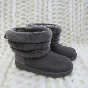 New UGG Australia Fluff Mini Quilted Logo Boot 4